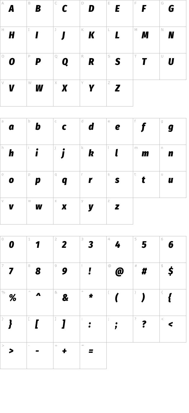 Fira Sans Condensed Black Italic Font - FontPalace com