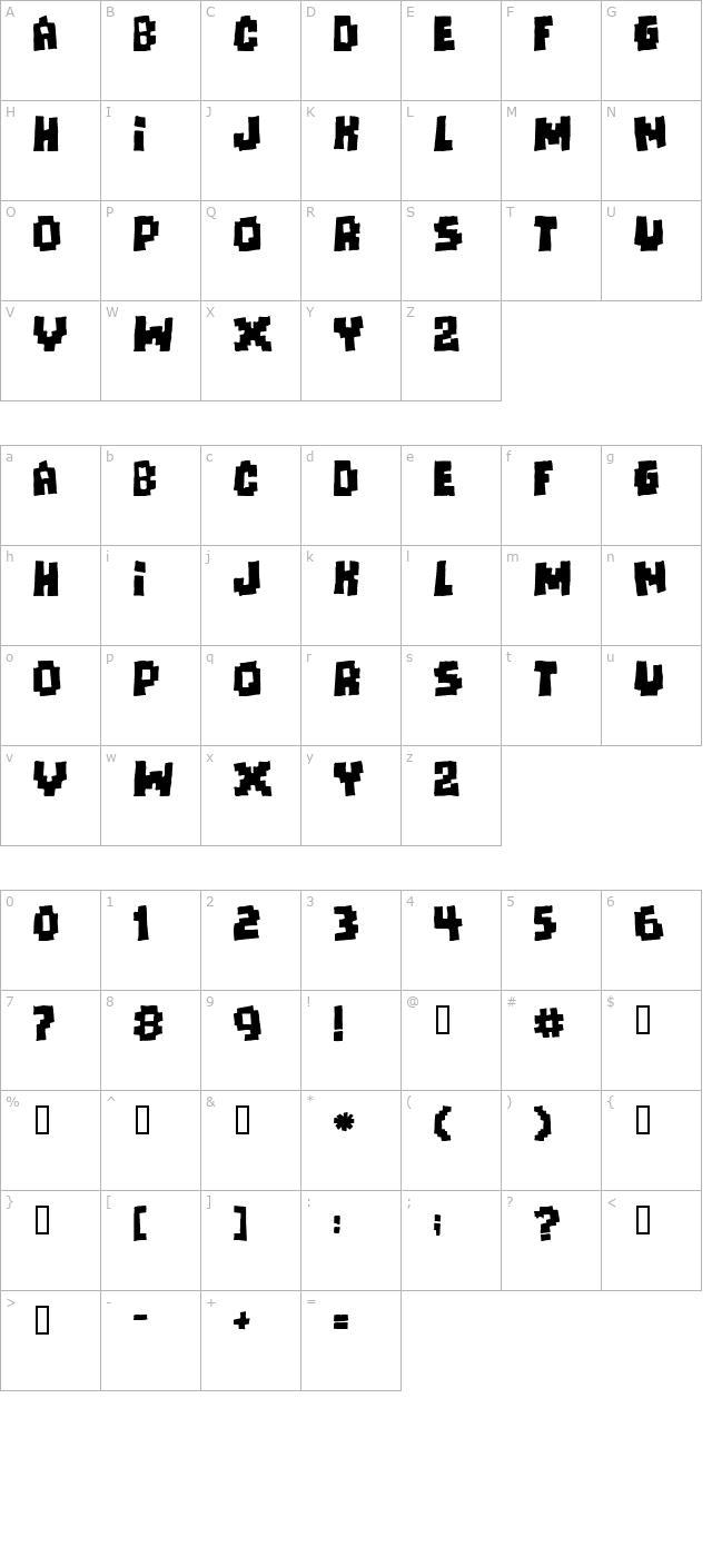 Download Freaks Of Nature Massive Font Free Font Download