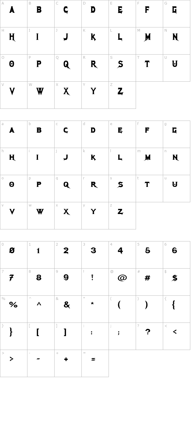 Download Megadeth Cryptic Font Free Font Download