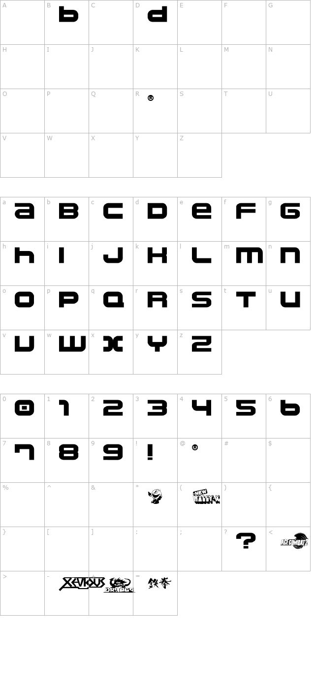 Download Namco Regular Font Free Font Download