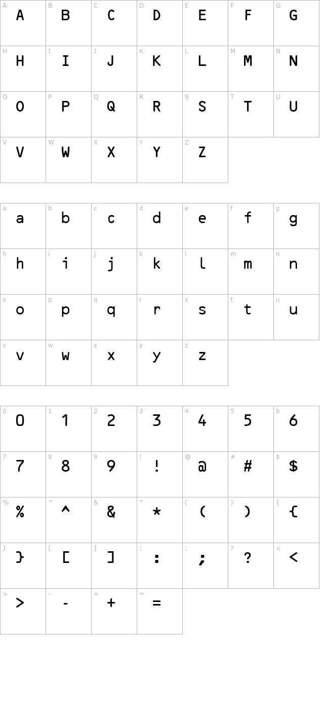 Download OcrB Regular Font - Free Font Download