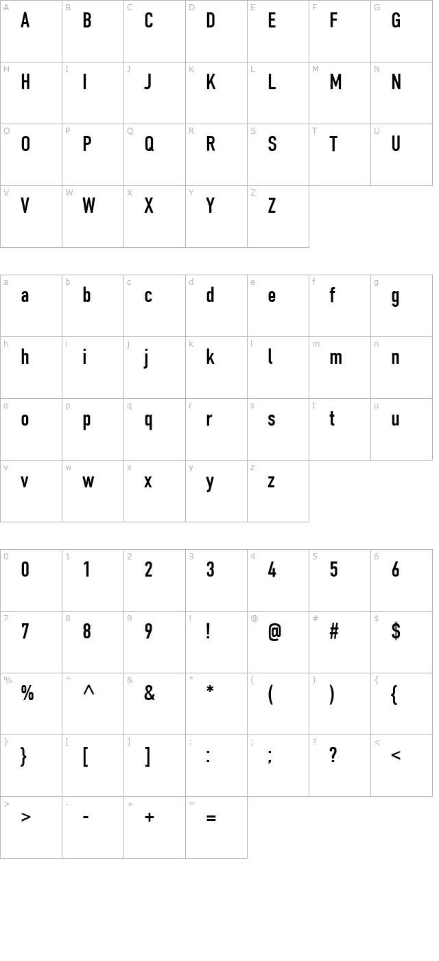 Download PT DIN Condensed Cyrillic Font - Free Font Download
