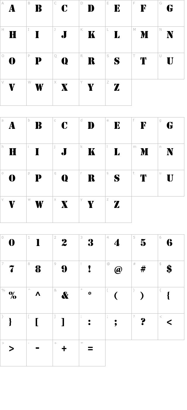 Download StencilStd Font - Free Font Download