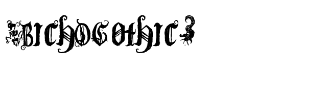 (BichOGothic) font preview