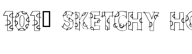 101! Sketchy HorseShoeZ font preview
