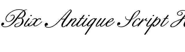 Bix Antique Script Hmk Font - FontPalace com