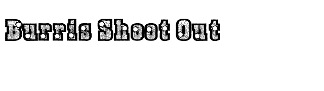 Burris Shoot Out font preview
