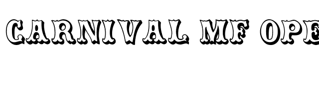 Carnival MF Open Shadow font preview
