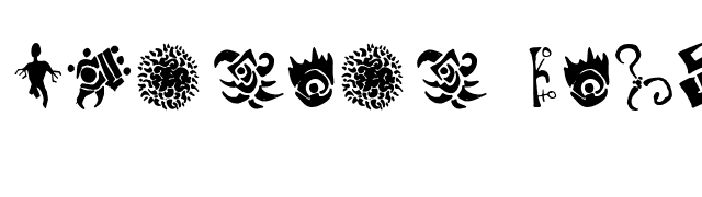 Cthulhu Glyphs font preview