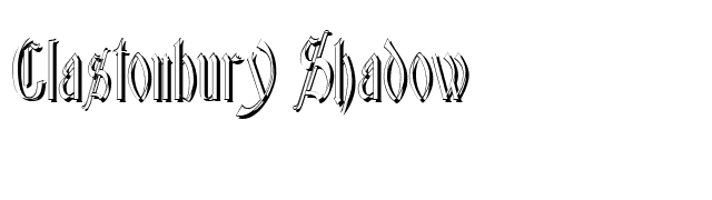 Glastonbury Shadow font preview