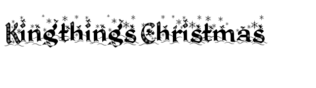 Kingthings Christmas font preview