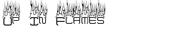 Up In Flames font preview