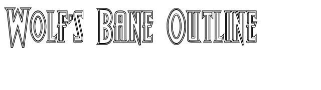 Wolf's Bane Outline font preview