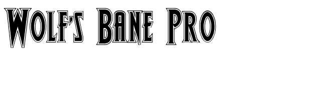 Wolf's Bane Pro font preview